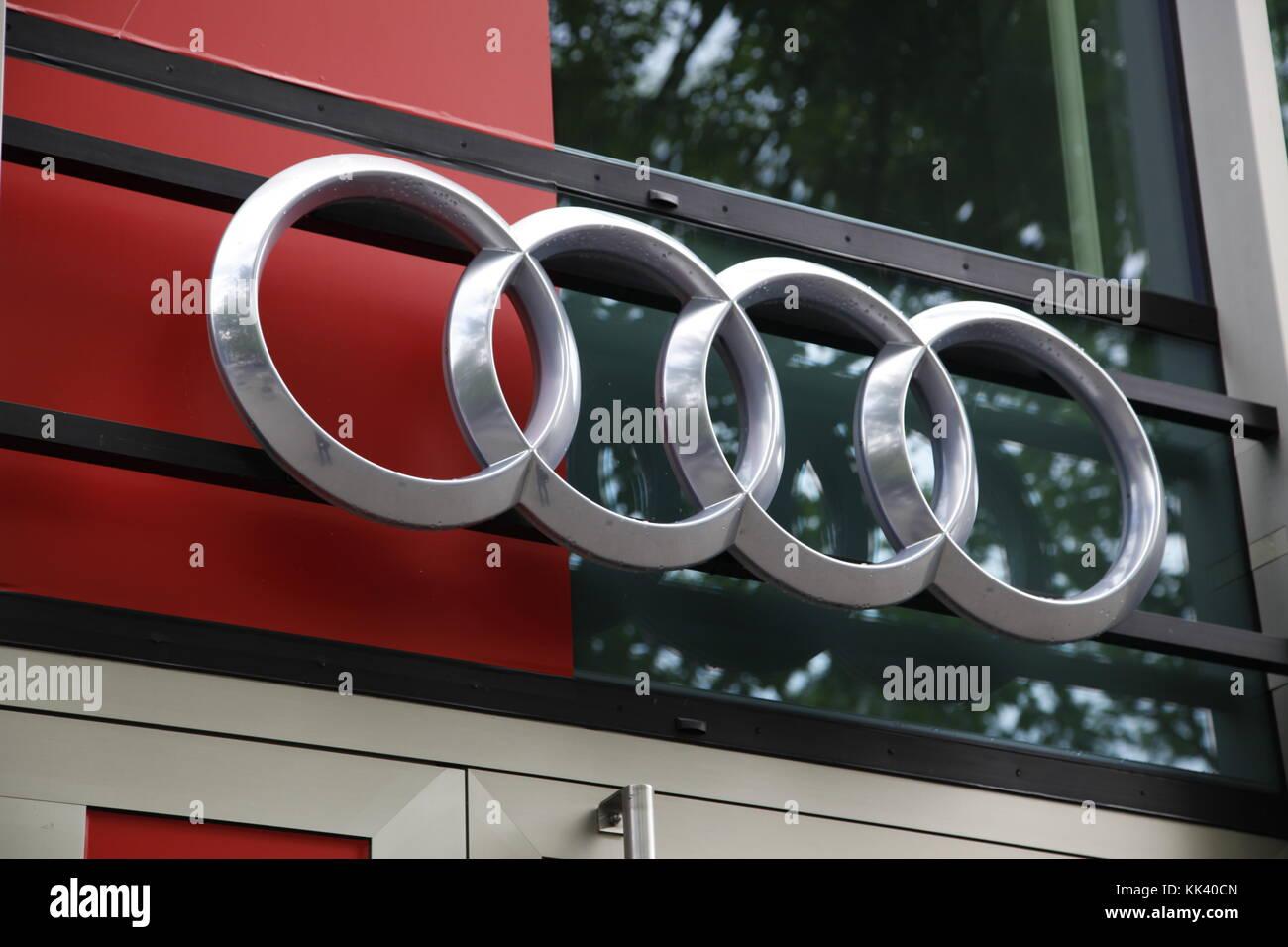 Audi label - Stock Image