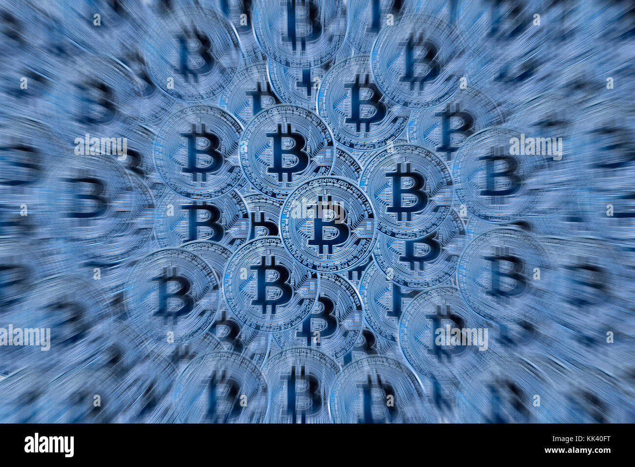 Bitcoin background - Stock Image