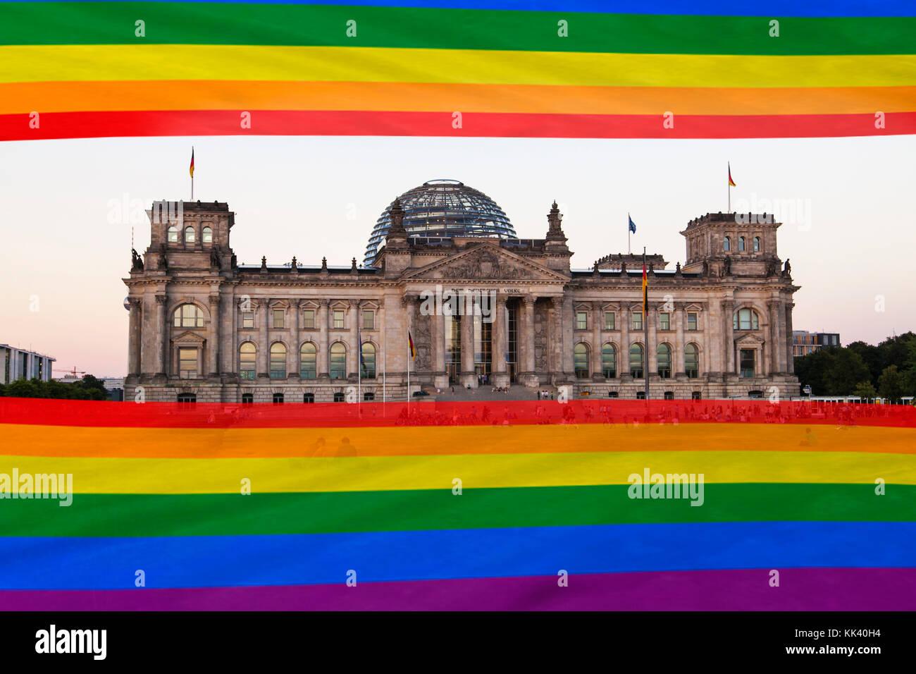 German parliament - Stock Image