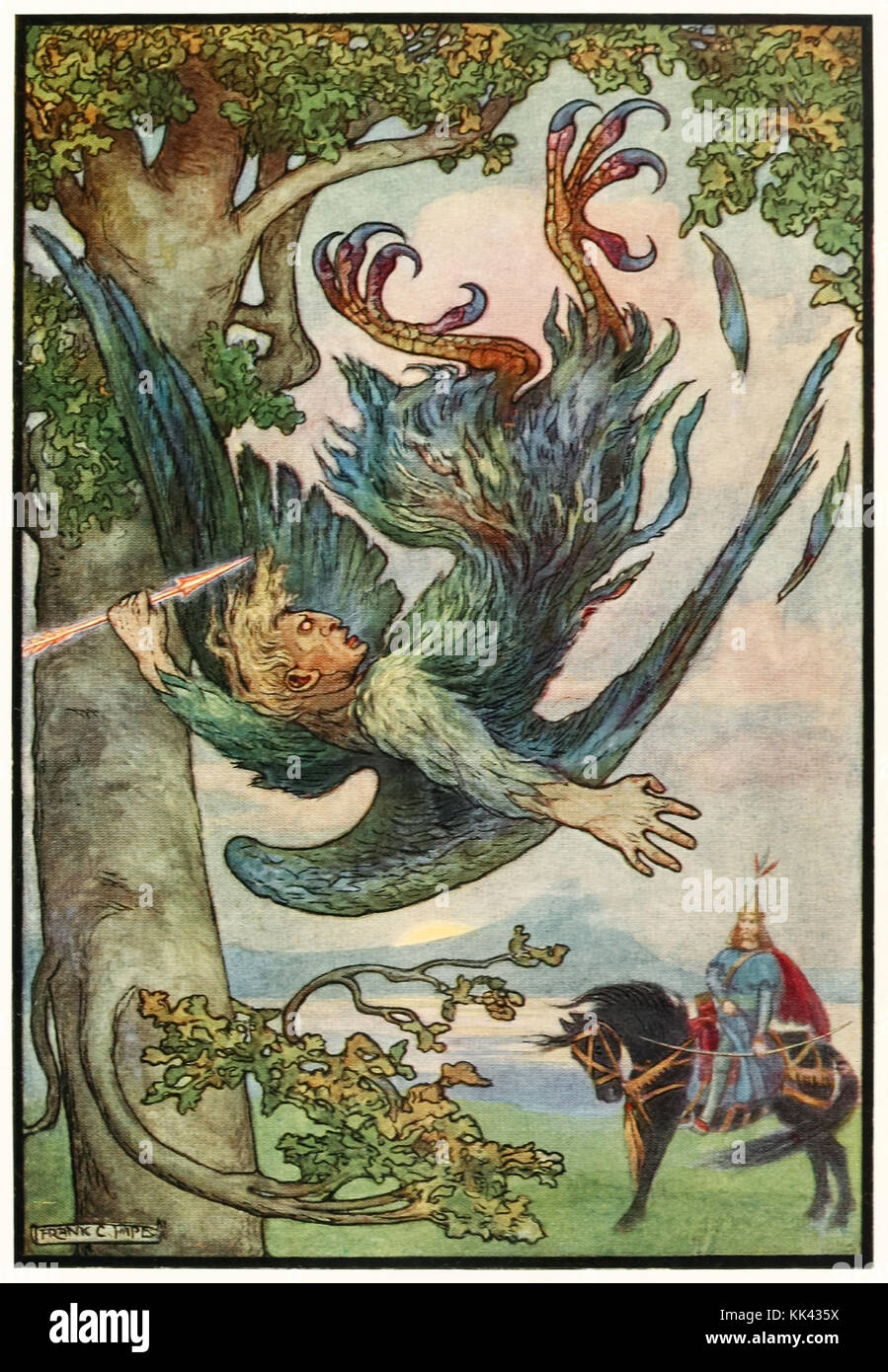 'Nightingale the Robber fell from his nest in the old oaks' from 'The Russian Story Book' by Richard Wilson (1878 - Stock Image