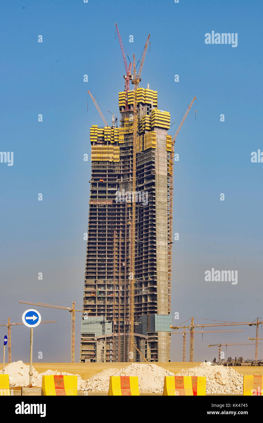 Jeddah Tower, previously known as Kingdom Tower and Mile