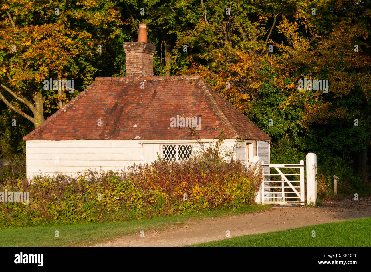 19th century Toll House from Beeding in Sussex at the Weald and Downland Open Air Museum, Singleton, West Sussex. - Stock Image