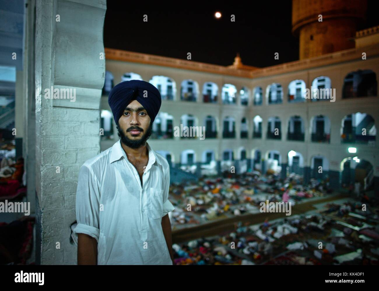 "Amritsar, Golden Temple  visiting the ""turban People of India"" -  01/09/2010  -    -  Golden Temple in Amritsar Stock Photo"