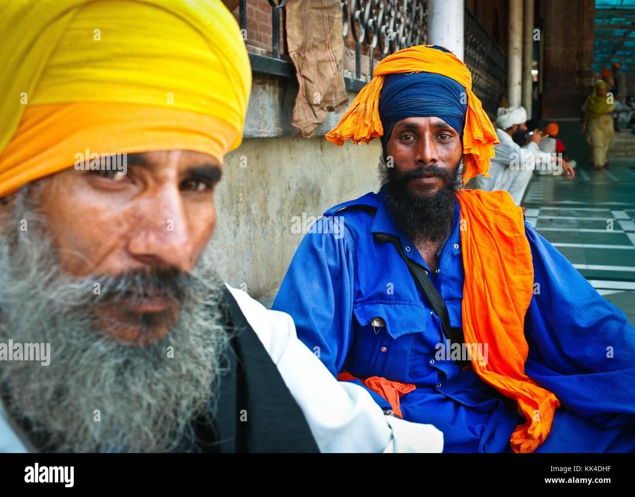 "Amritsar, Golden Temple  visiting the ""turban People of India"" -  03/09/2010  -    -  Golden Temple in Amritsar Stock Photo"