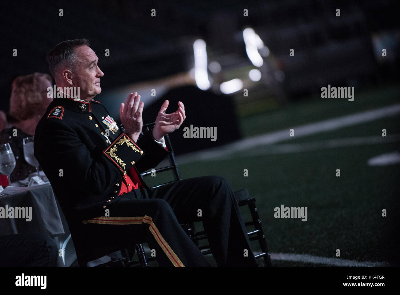 U.S. Marine Corps Gen. Joseph F. Dunford, Jr., chairman of the Joint Chiefs of Staff, applauds during the U.S. Marine Stock Photo