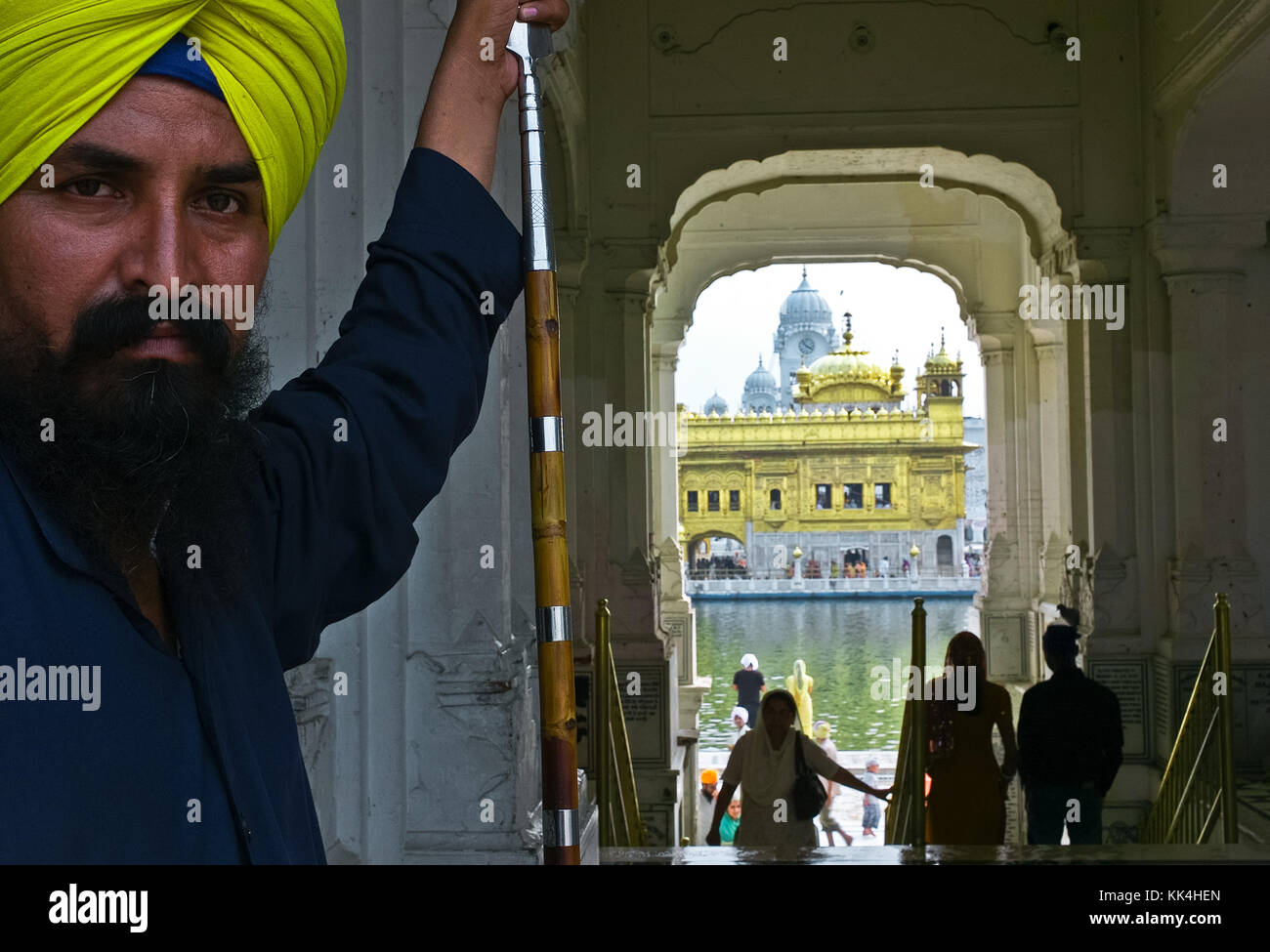 "Amritsar, Golden Temple  visiting the ""turban People of India"" glance of Indian -  01/09/2010  -    -  Amritsar, Stock Photo"
