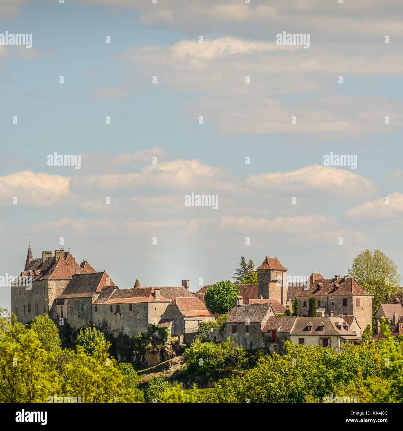 Loubressac most pictorial villages of france lot region Stock Photo