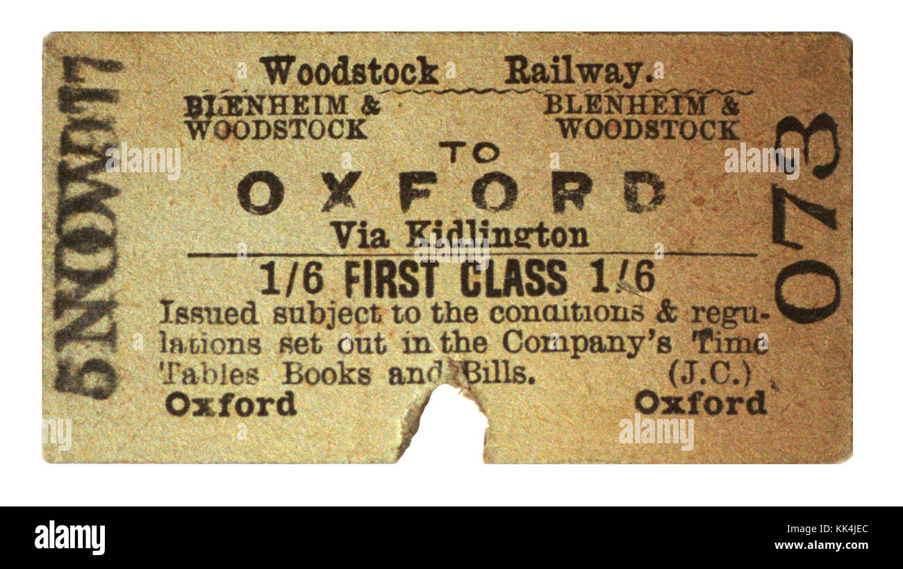 GWR Railway Ticket for Opening of South Hams Line - Stock Image