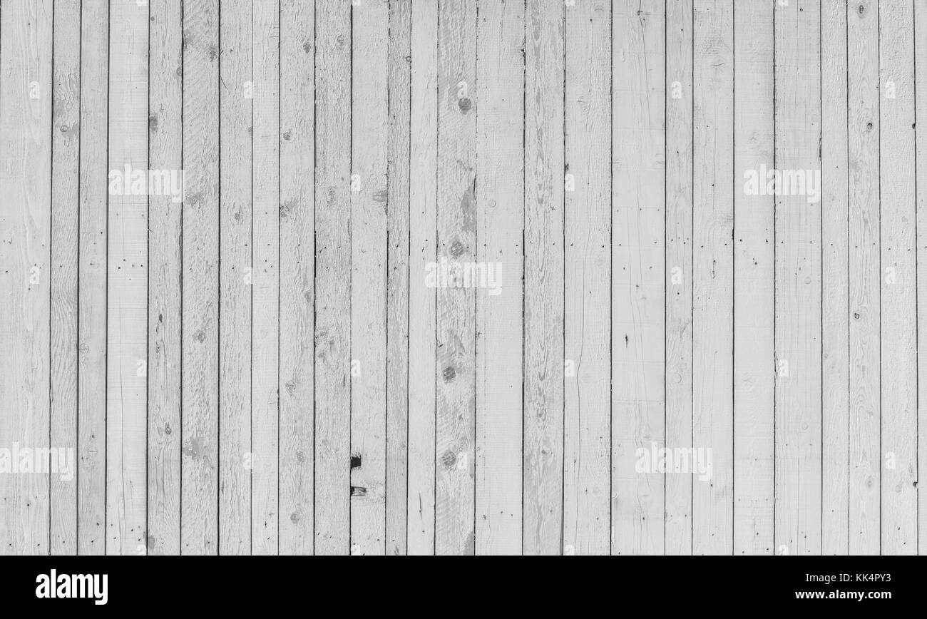 White wood rustic planks background - Stock Image