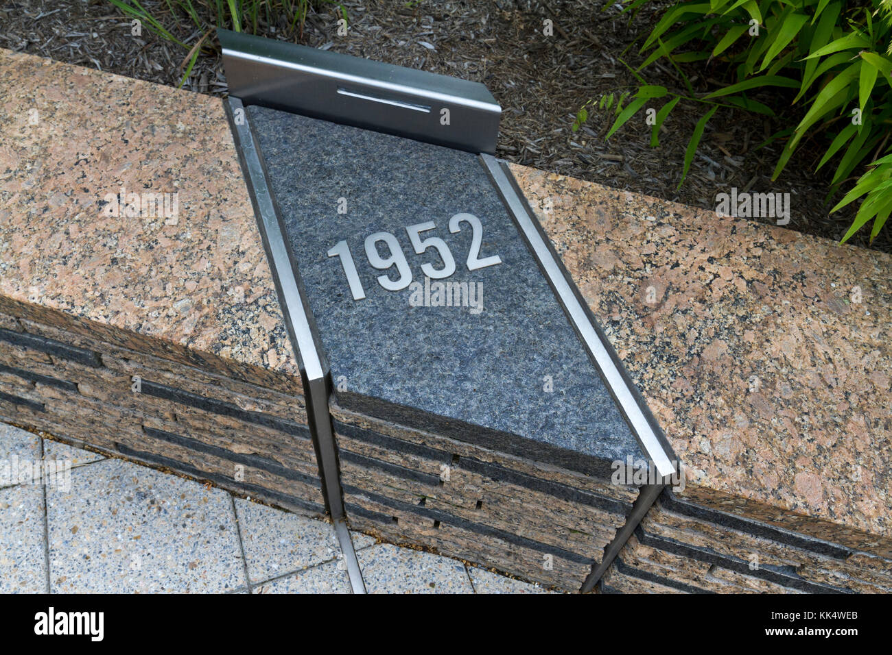 Date Marker Passengers Were Remembered By Age At The 911 Pentagon Memorial Located Beside In Arlington County Virginia