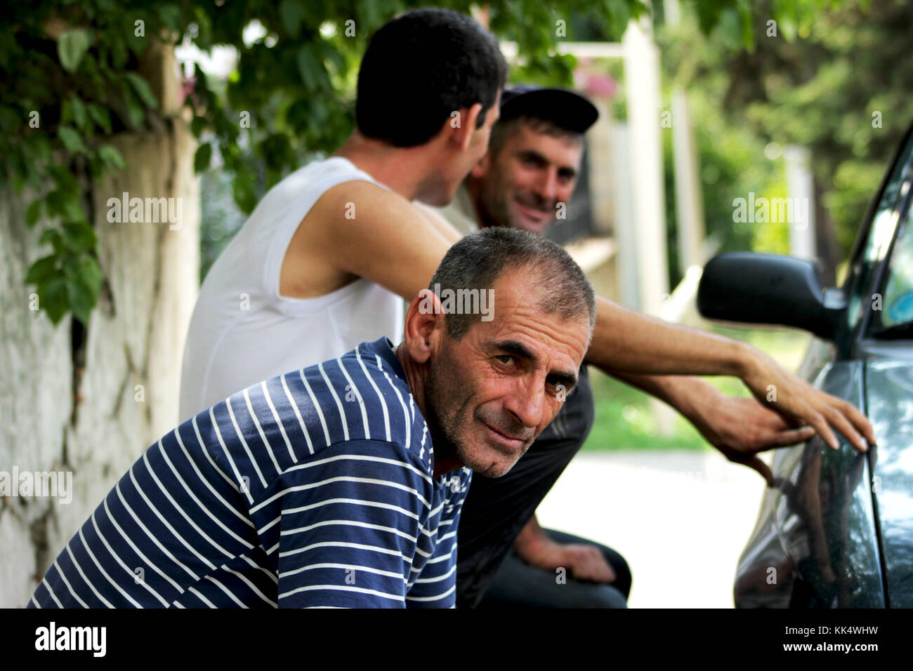 Ivanovka is a russian village in the Ismailli rayon of Azerbaijan - Stock Image