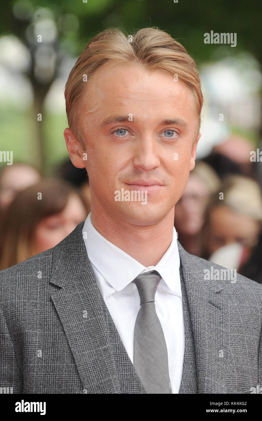 Tom Felton attends the UK premiere of Belle at BFI Southbank in London. 5th June 2014 © Paul Treadway - Stock Image