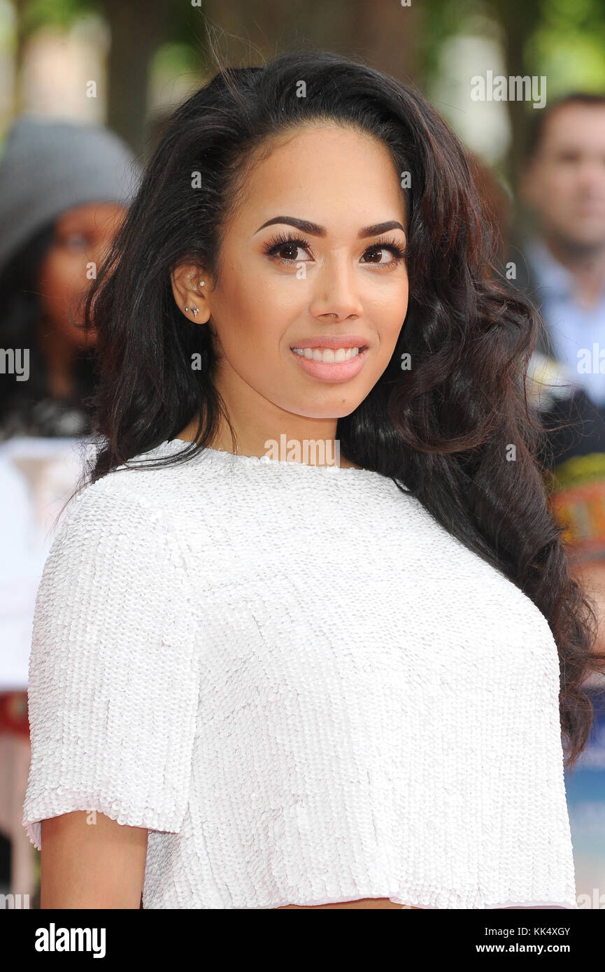 Jade Ewen attends the UK premiere of Belle at BFI Southbank in London. 5th June 2014 © Paul Treadway - Stock Image