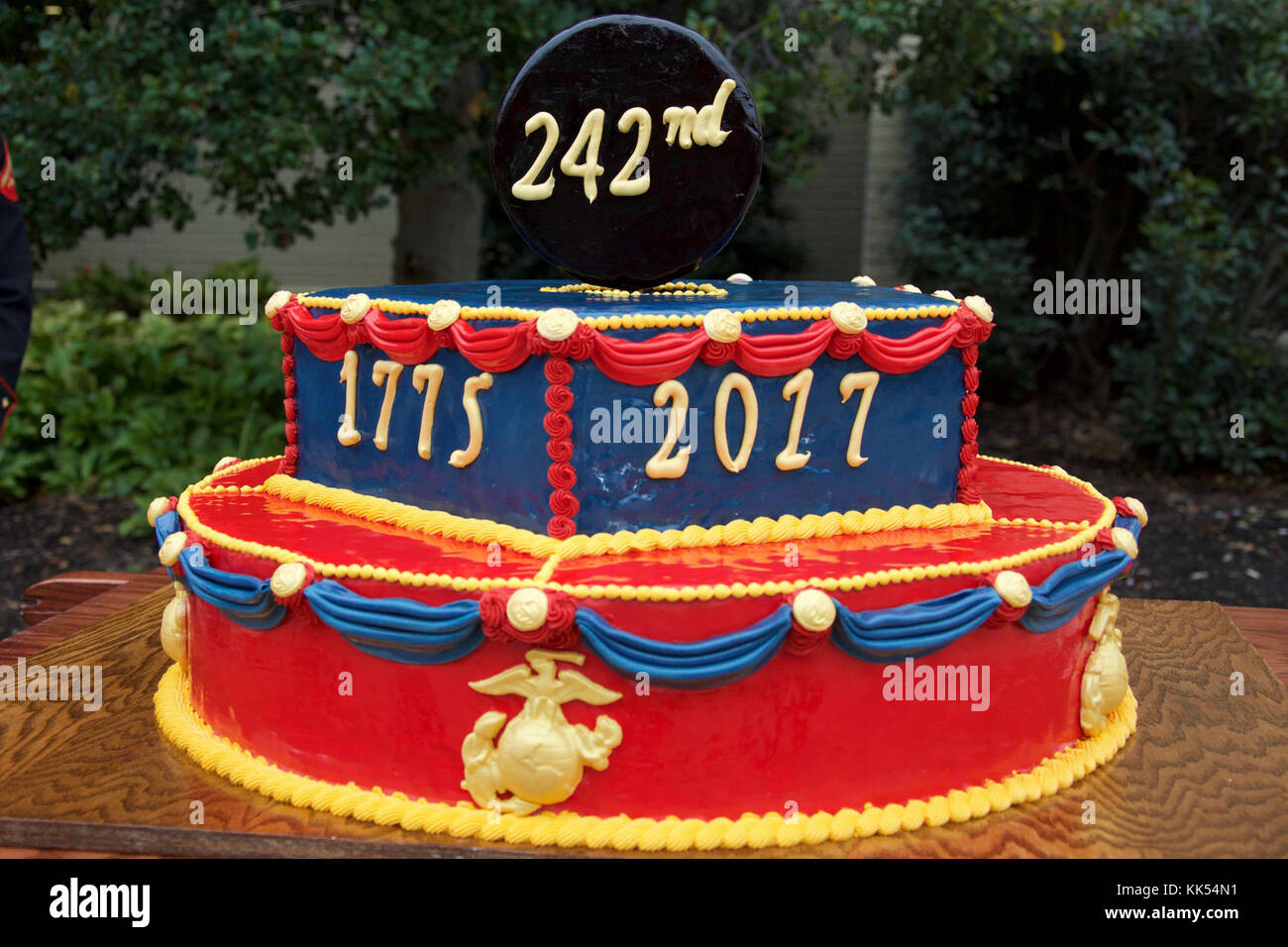 Pleasing A Cake Is Displayed At A Marine Corps Birthday Ceremony At The Funny Birthday Cards Online Overcheapnameinfo