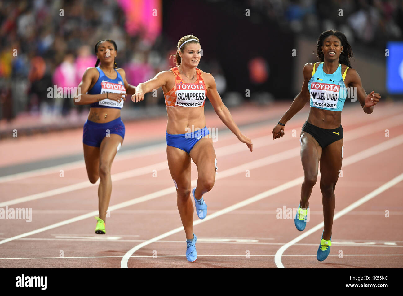 Dafne Schippers - 200m women Gold Medal - IAAF World Championships London 2017 - Stock Image