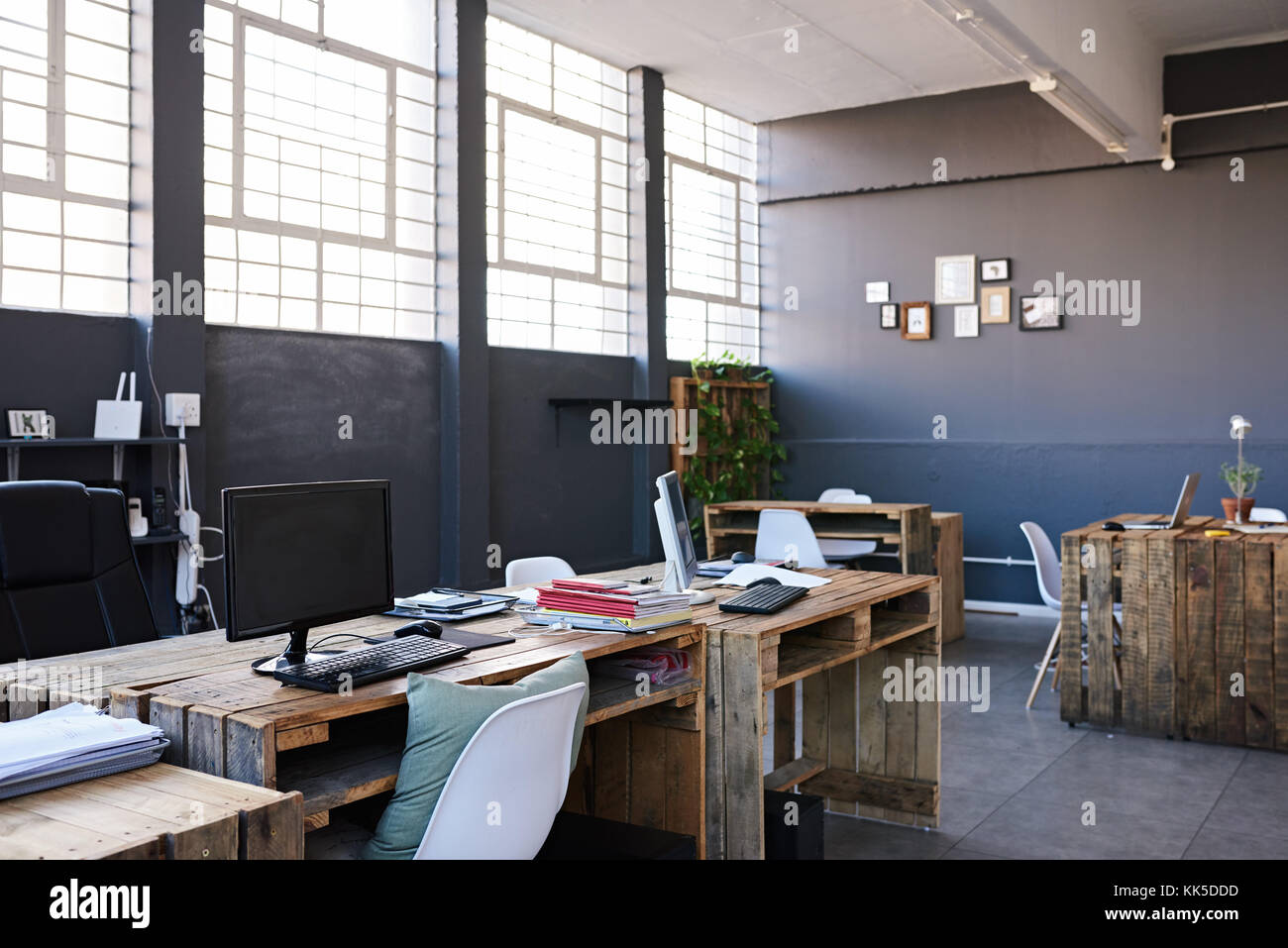 advertising agency office. Interior Of A Contemporary Office Space Without Staff - Stock Image Advertising Agency C