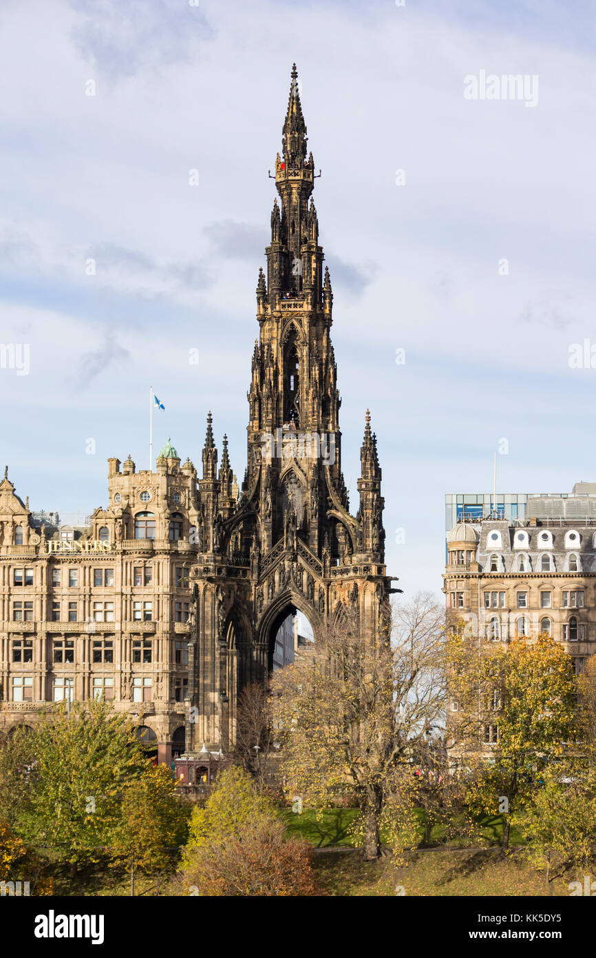 Scott Monument, East Princes street Gardens, Edinburgh, Scotland, United Kingdom. - Stock Image