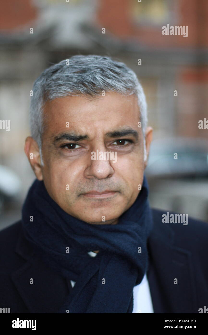 Sadiq Khan in Westminster on budget day 2017. British politics. British politicians. MPS. Labour party. British - Stock Image