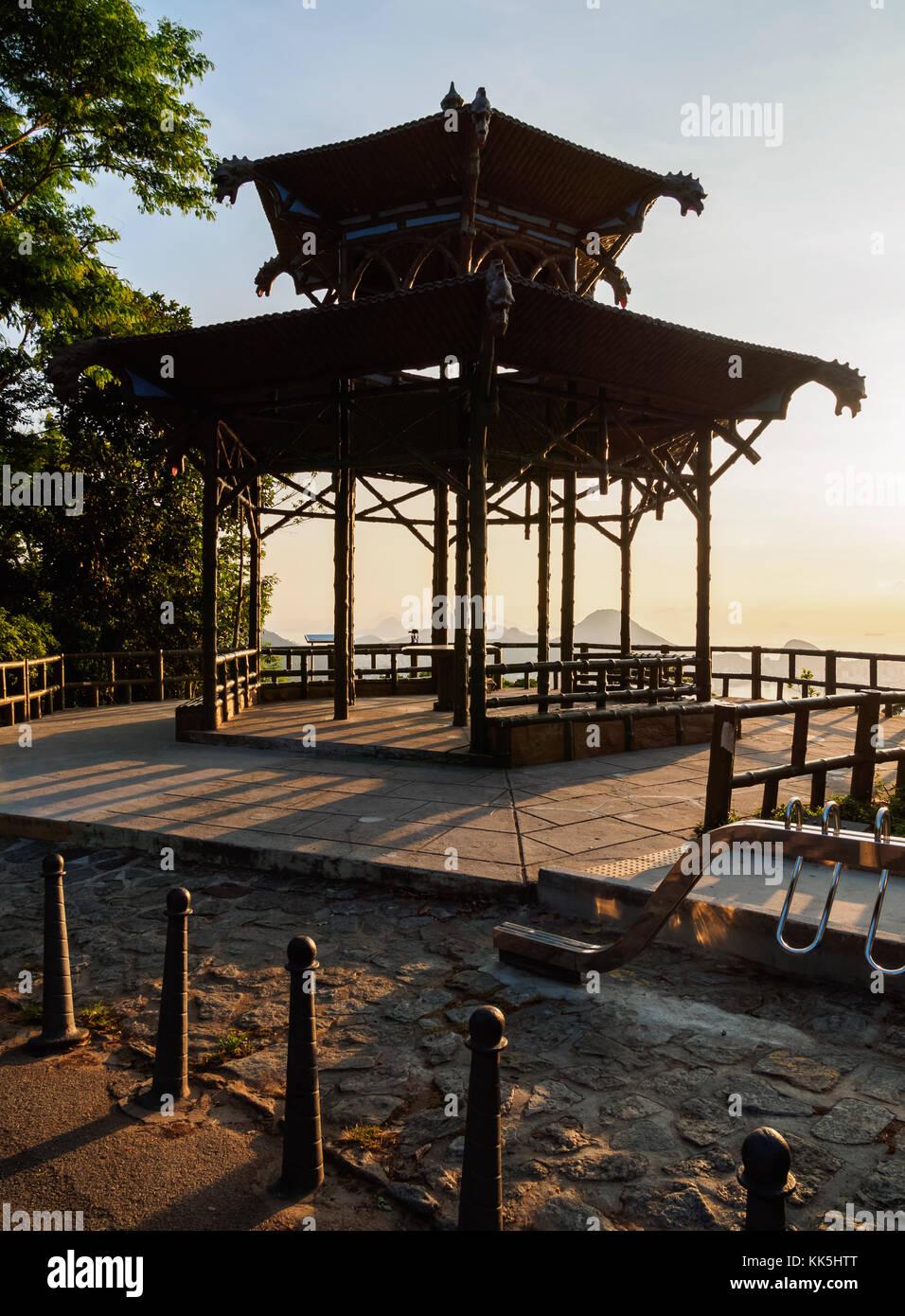 Vista Chinesa, Chinese Belvedere, Tijuca Forest National Park, Rio de Janeiro, Brazil Stock Photo