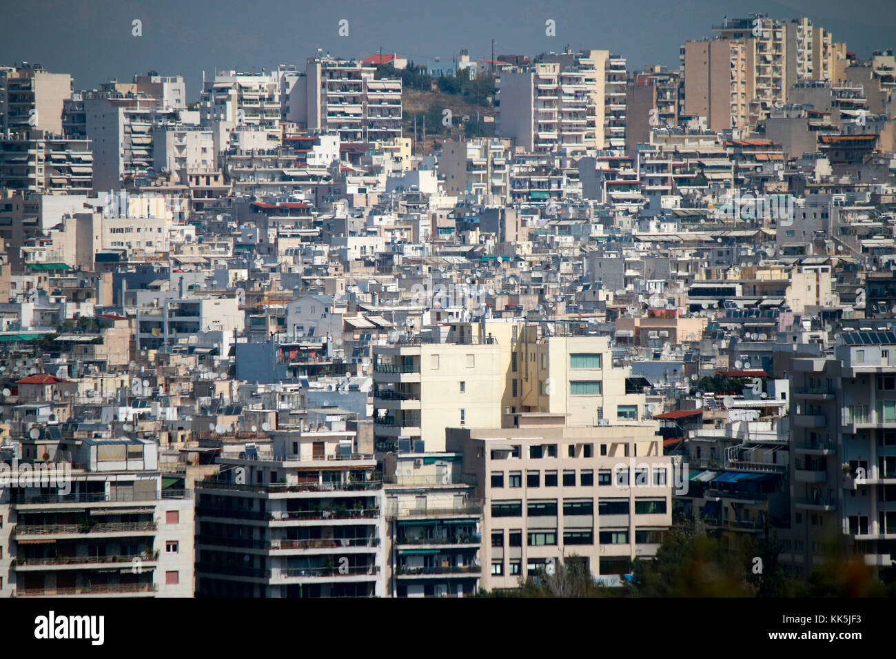 Skyline, Athen, Griechenland. Stock Photo