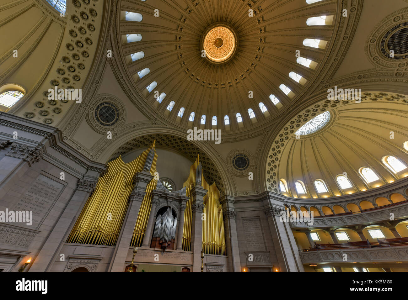 Boston, Massachusetts - Sept 4, 2016: Interior of the First Church of Christ Scientist, the mother church of Christian - Stock Image