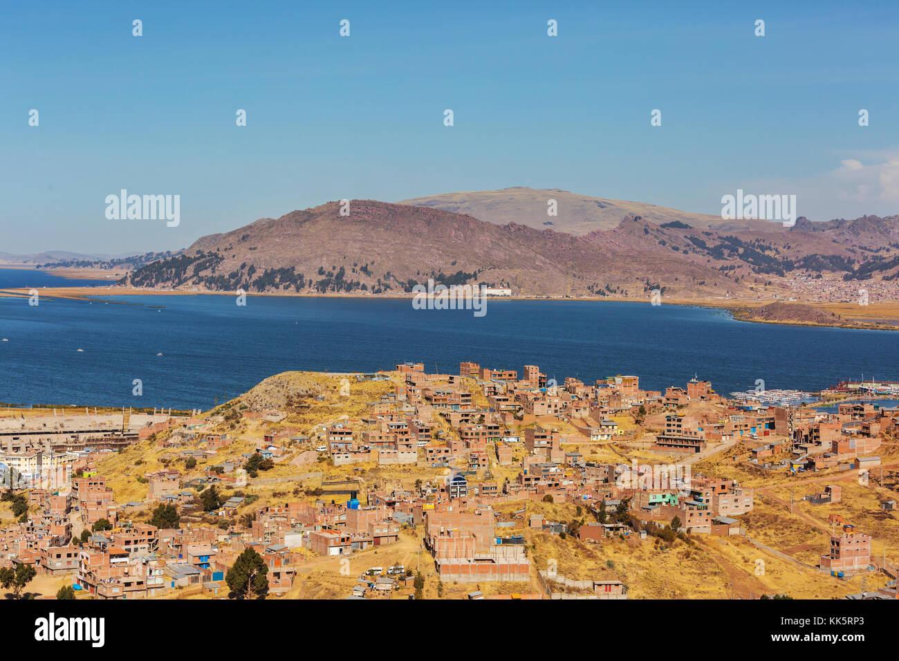 Titikaka lake in Peru, South America - Stock Image
