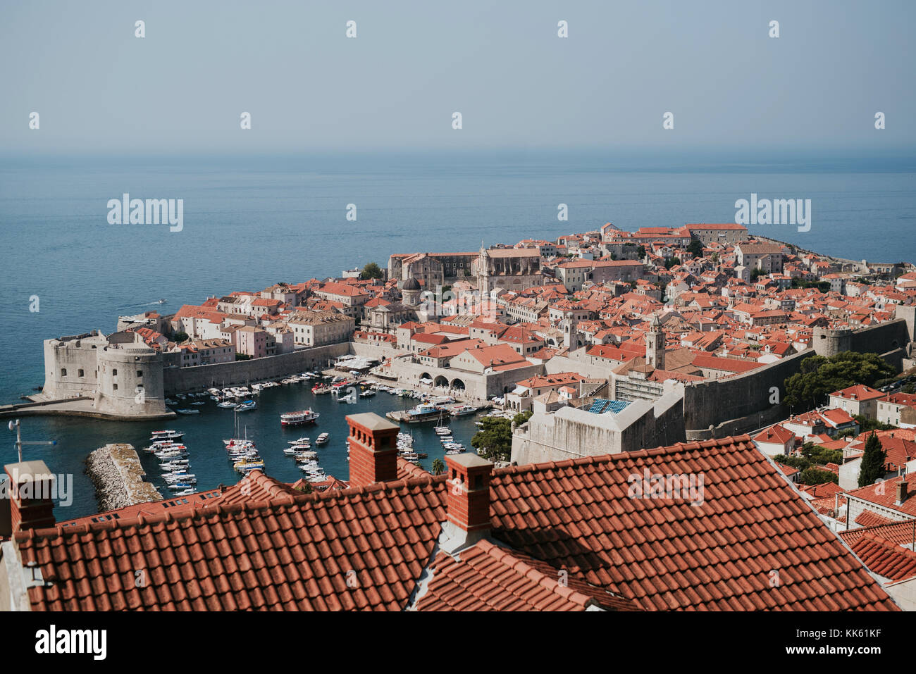 Beautiful old city of Dubrovnik in Croatia - Stock Image