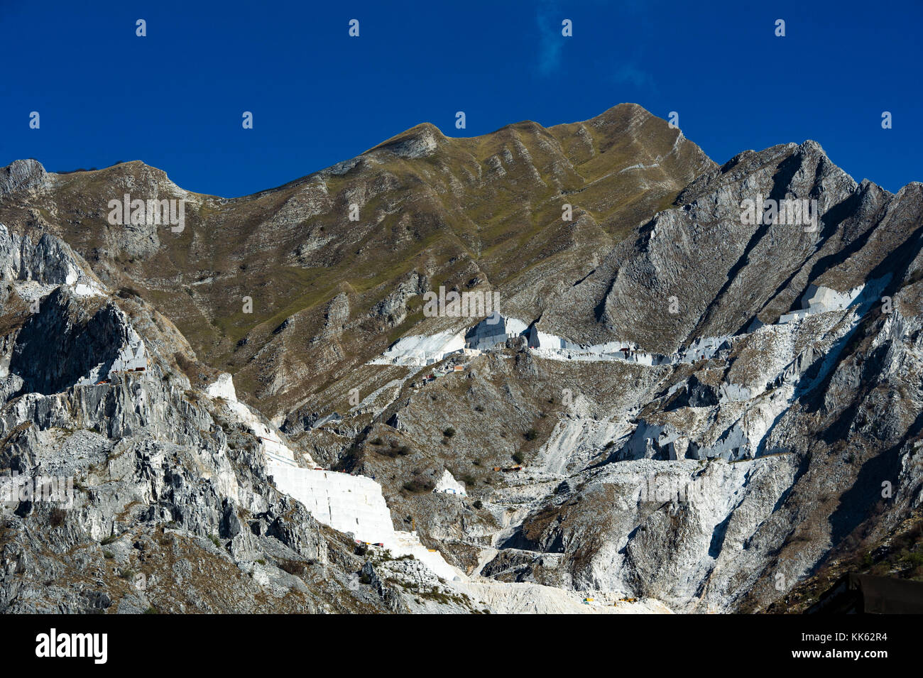 Europe. Italy. Liguria. Carrara. The white marble quarries - Stock Image