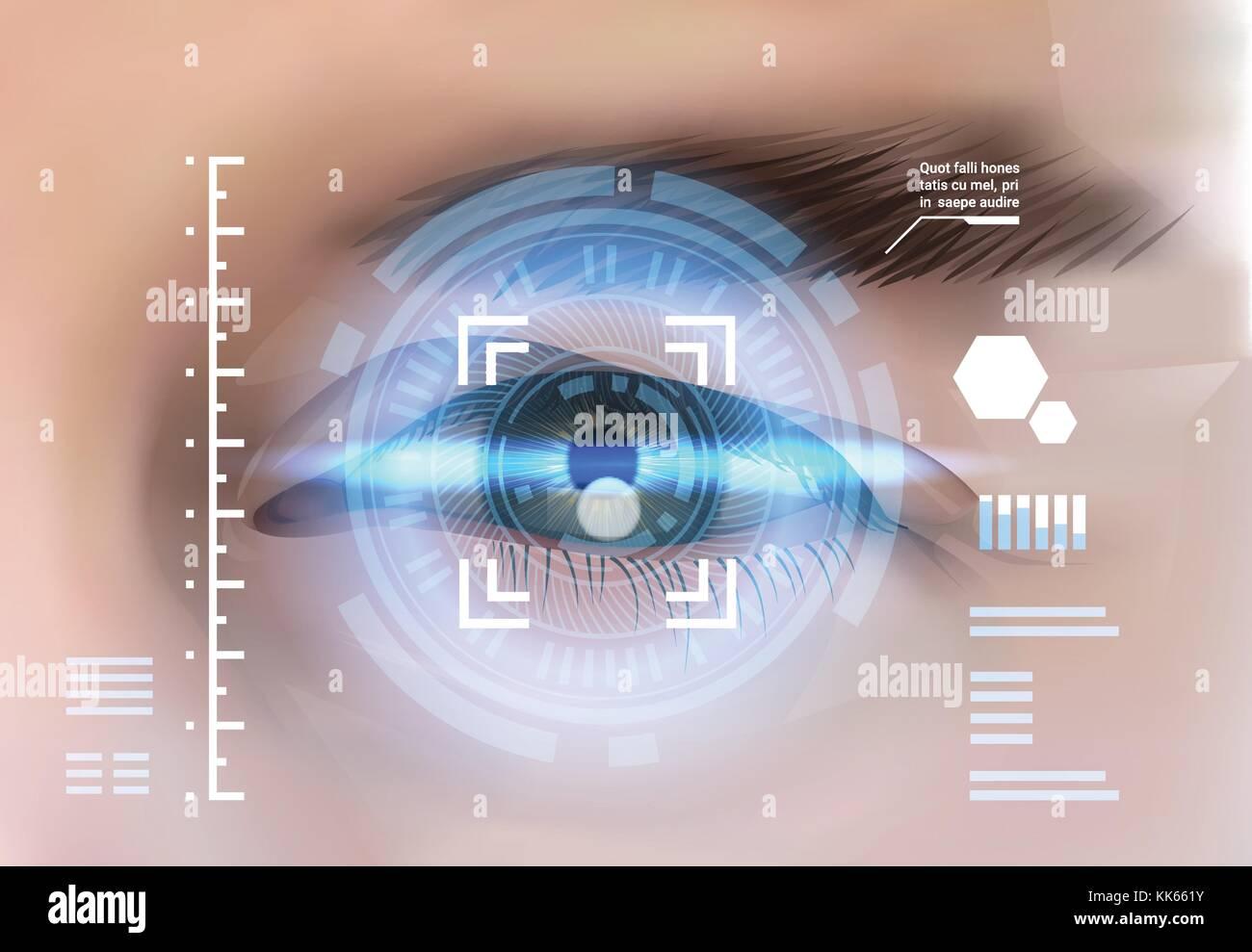 Eye Retina Scanning Recognition System Biometric