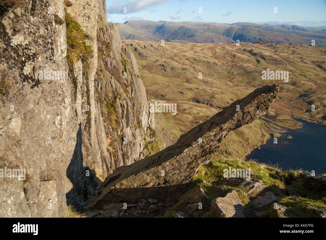 Jacks Rake on Pavey Ark Langdale Lake District, England - Stock Image