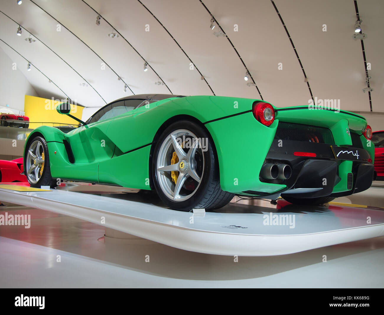 Jay Kay S Green Ferrari Laferrari In The Enzo Ferrari Museum In Stock Photo Alamy