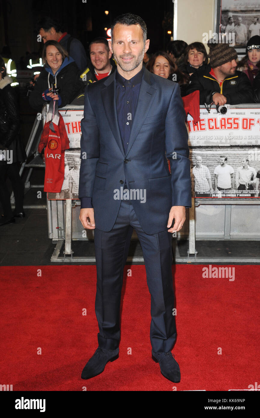 Ryan Giggs  attends the World Premiere of The Class Of 92 at the Odeon West End in London. 1st December 2013 © - Stock Image