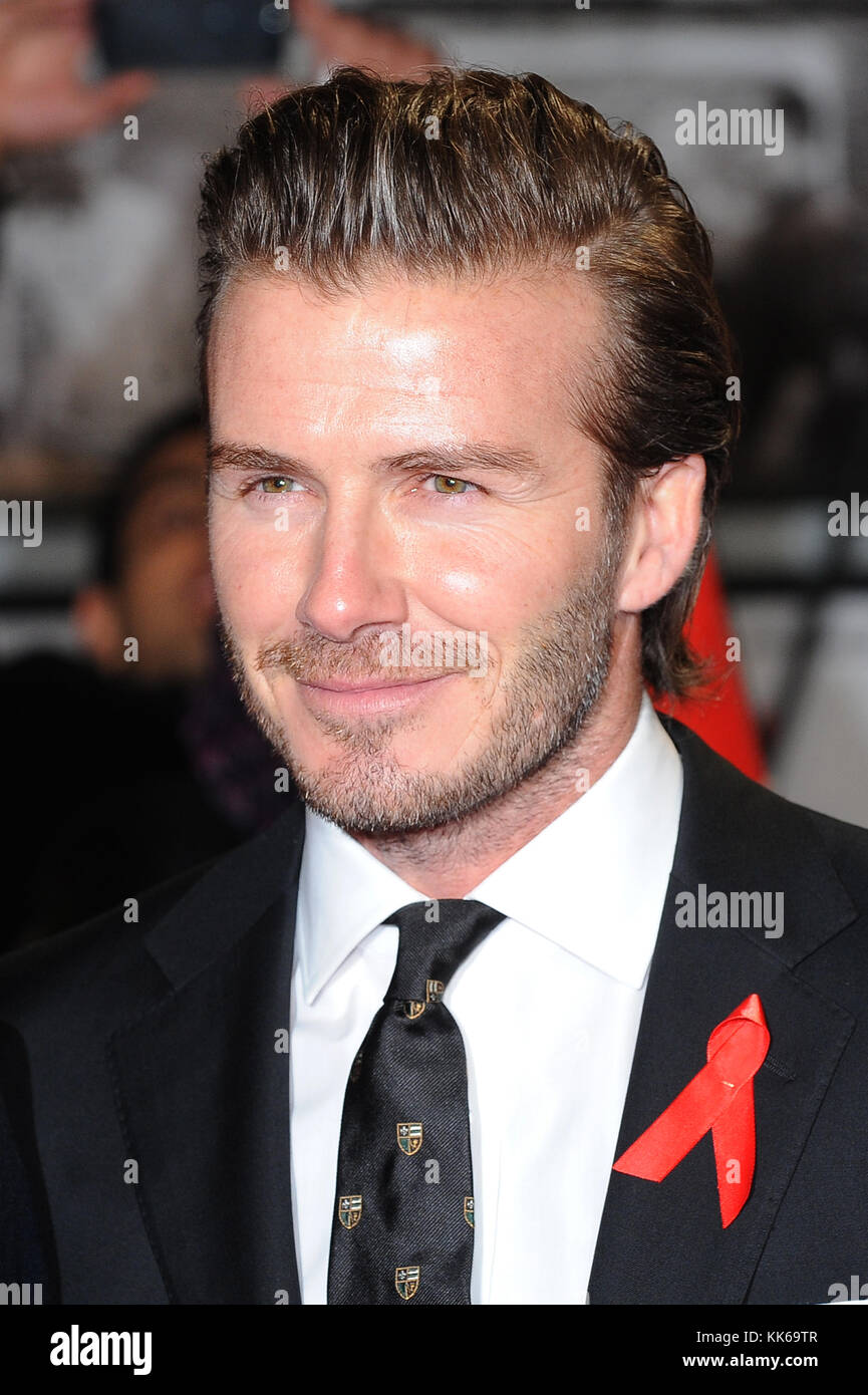 David Beckham attends the World Premiere of The Class Of 92 at the Odeon West End in London. 1st December 2013 © - Stock Image