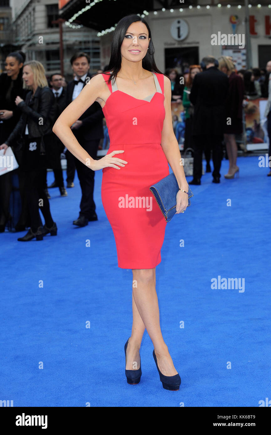 English Violinist Linzi Stoppard attends the UK Premiere of X-Men: Days Of Future Past, Odeon Leicester Square, - Stock Image