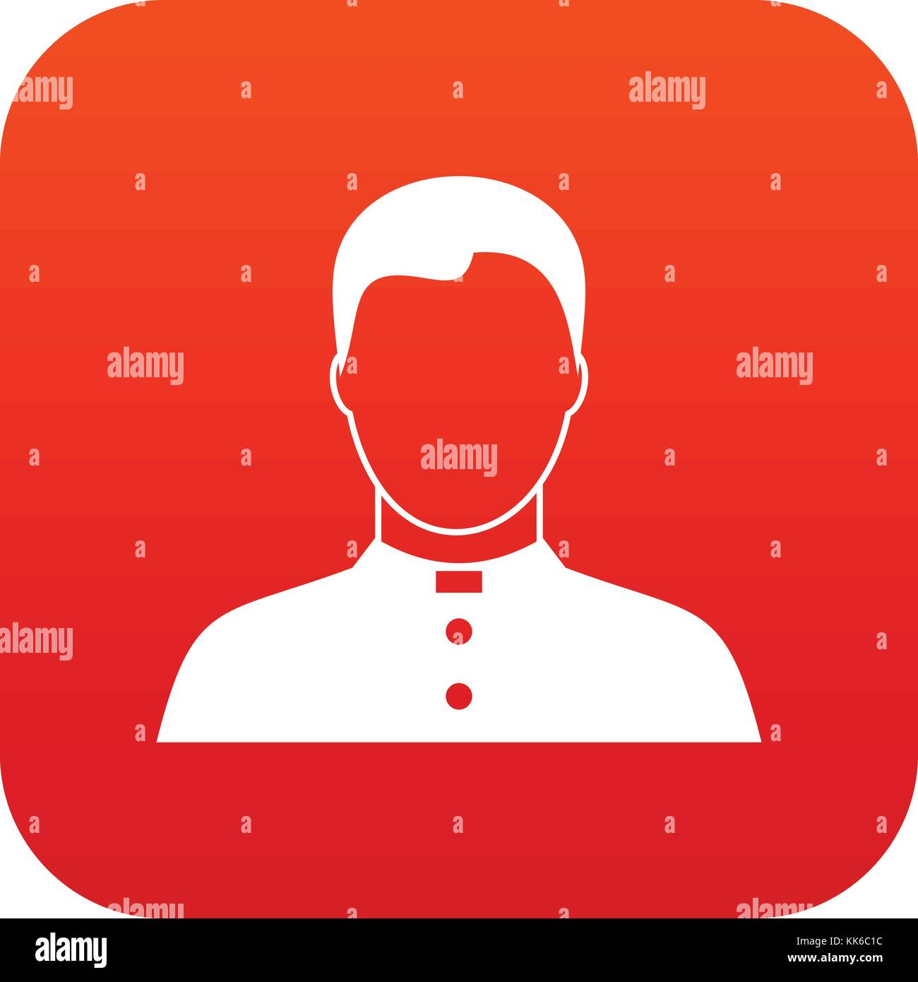 Pastor icon digital red - Stock Vector