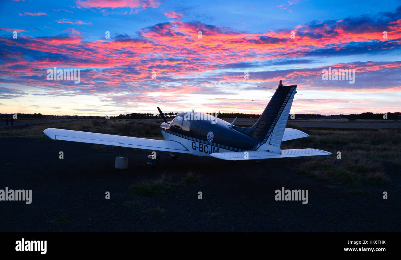 Piper private plane - Stock Image