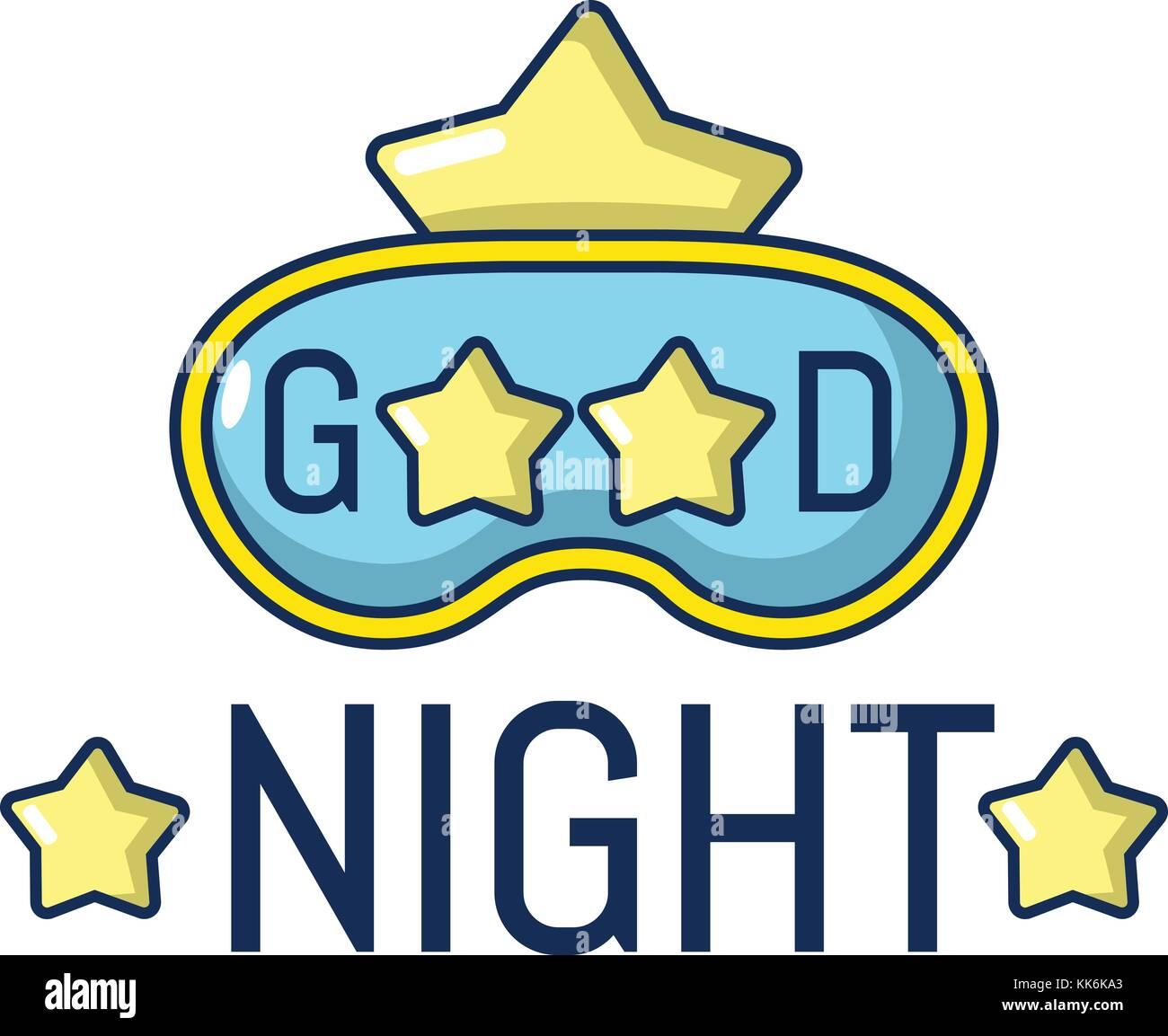 Good Night Icon Cartoon Style Stock Vector Art Illustration