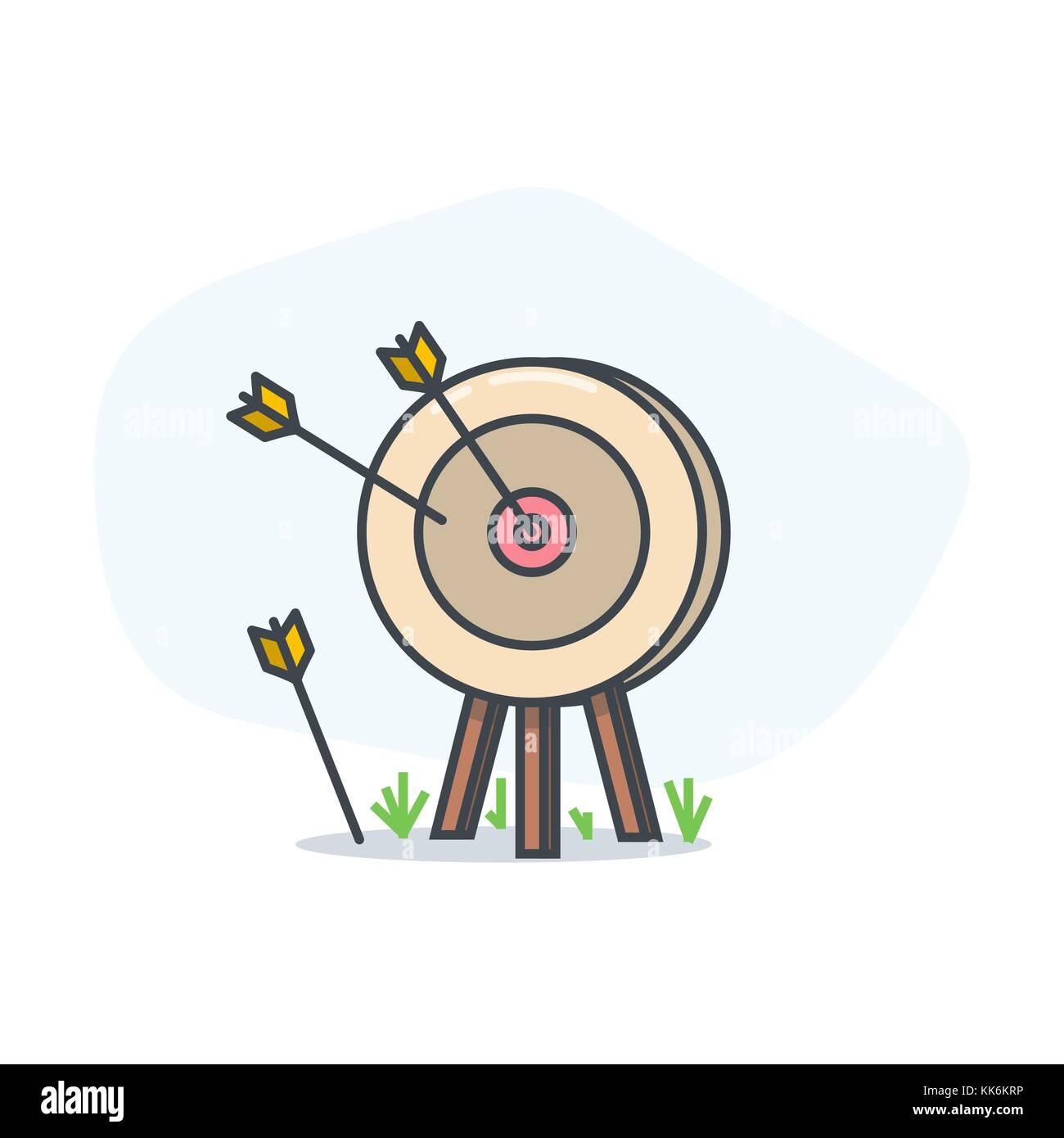Target and arrow Stock Vector