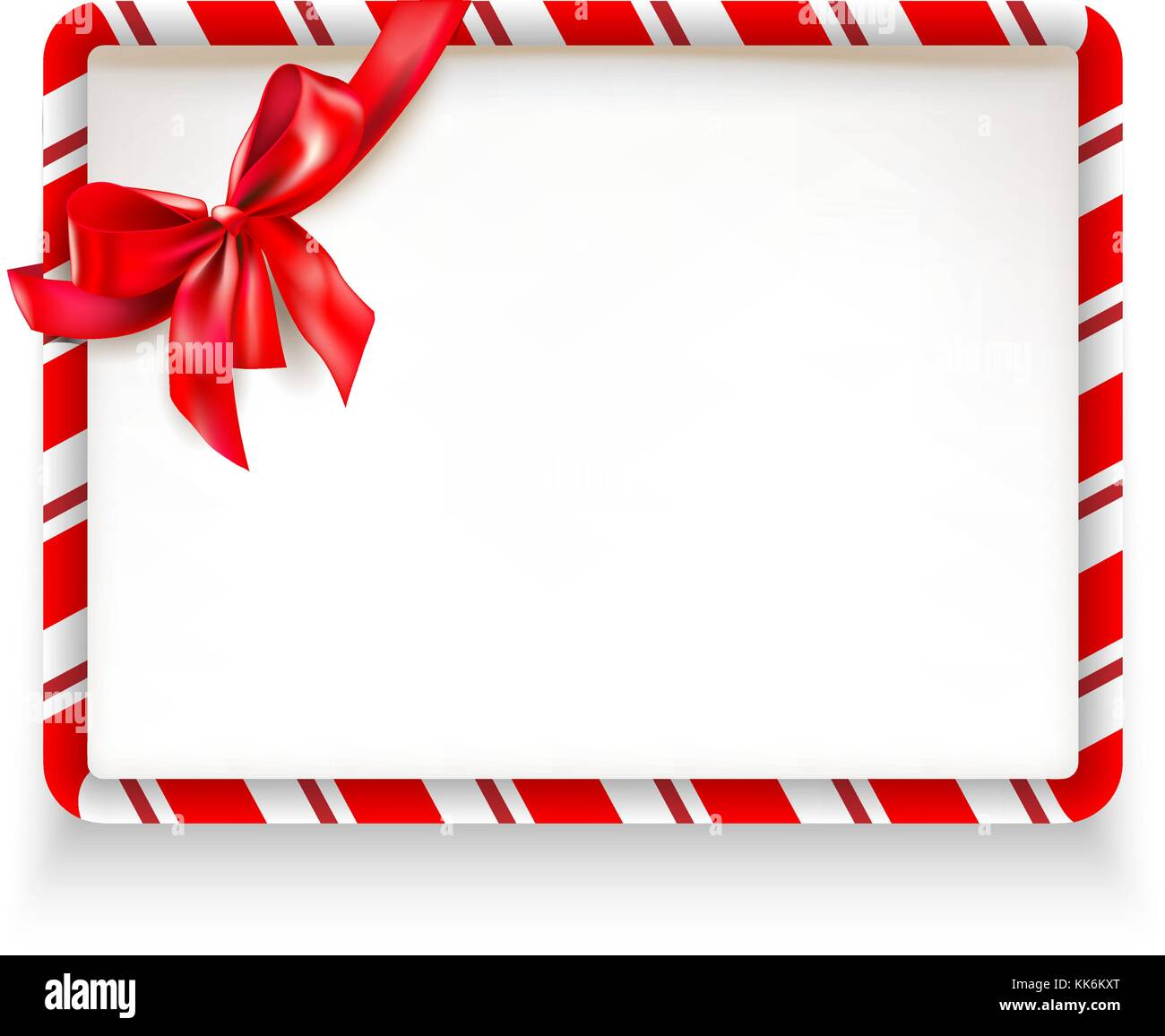 Holiday stripe frame - Stock Vector