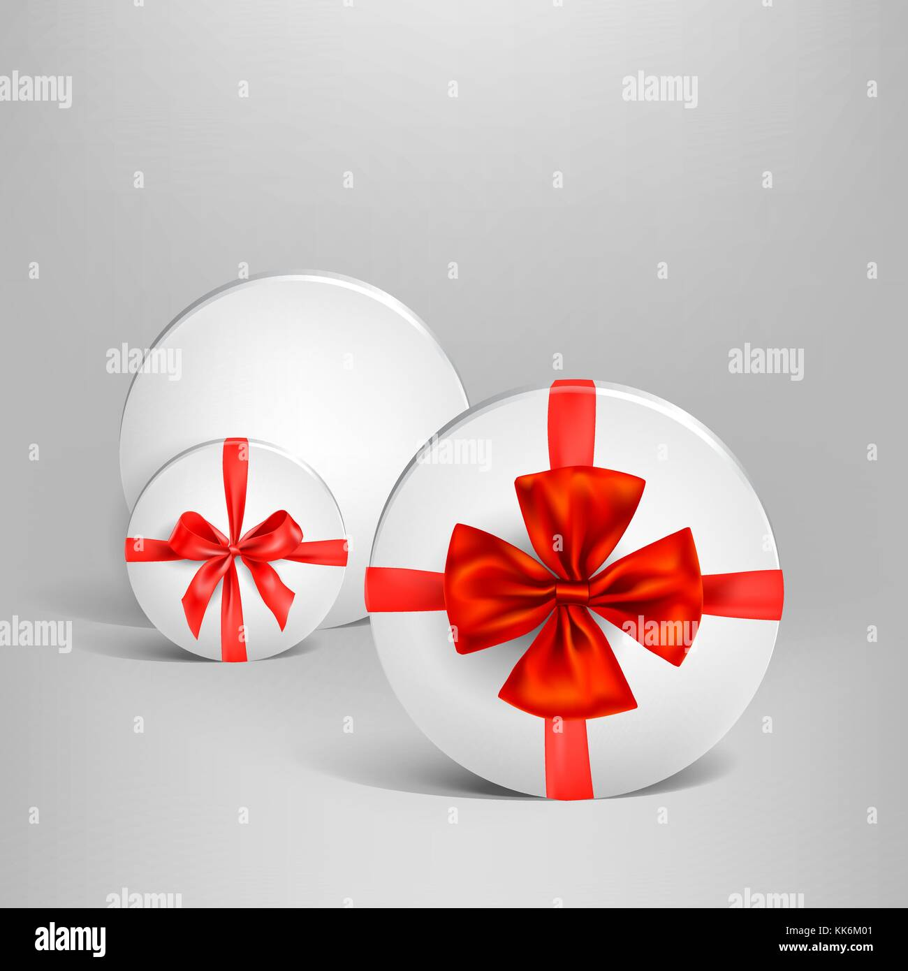 Holiday white box set - Stock Vector