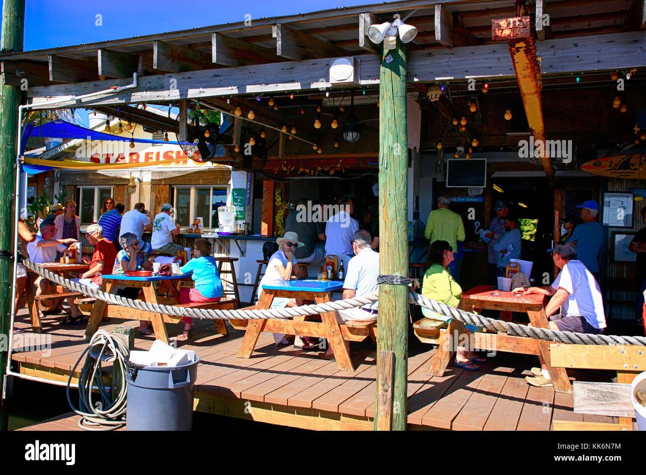 People Enjoying Lunch At The Starfish Company Fish