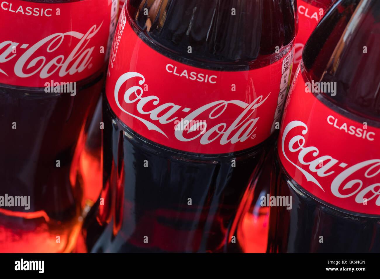Coca cola Coke bottles - Stock Image