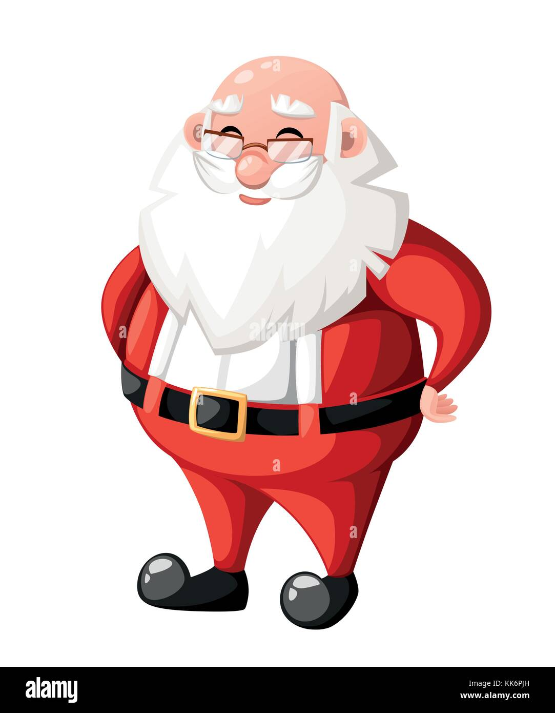 Smiling Christmas Cartoon Santa Claus Character Without Hat Hat Stock Vector Image Art Alamy Cartoon santa claus in sleigh with reindeer. https www alamy com stock image smiling christmas cartoon santa claus character without hat hat holiday 166721257 html