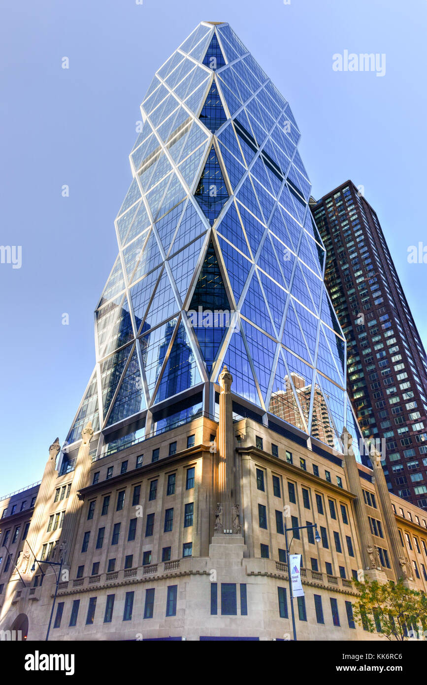 New York City - November 6, 2016: Hearst Tower, the headquarters of the Hearst Corporation in New York City. - Stock Image