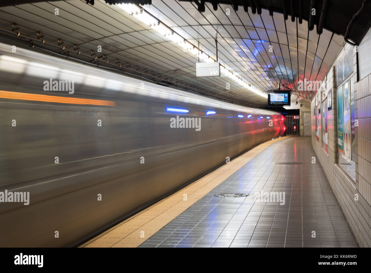 Jersey City, NJ - November 13, 2016: Train passing through