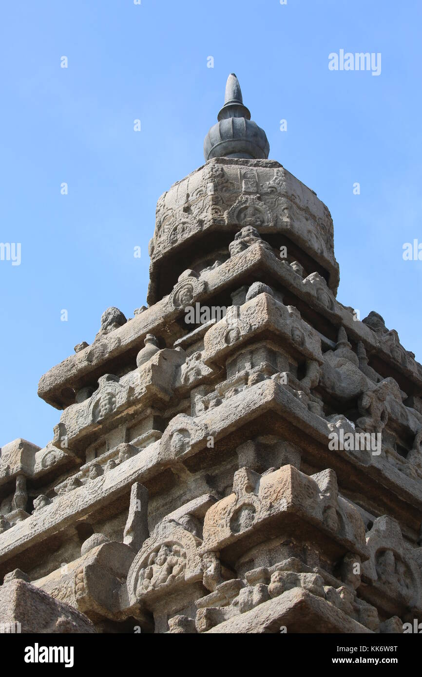 Shore temple - Mamallapuram - Süd indien South india - Stock Image