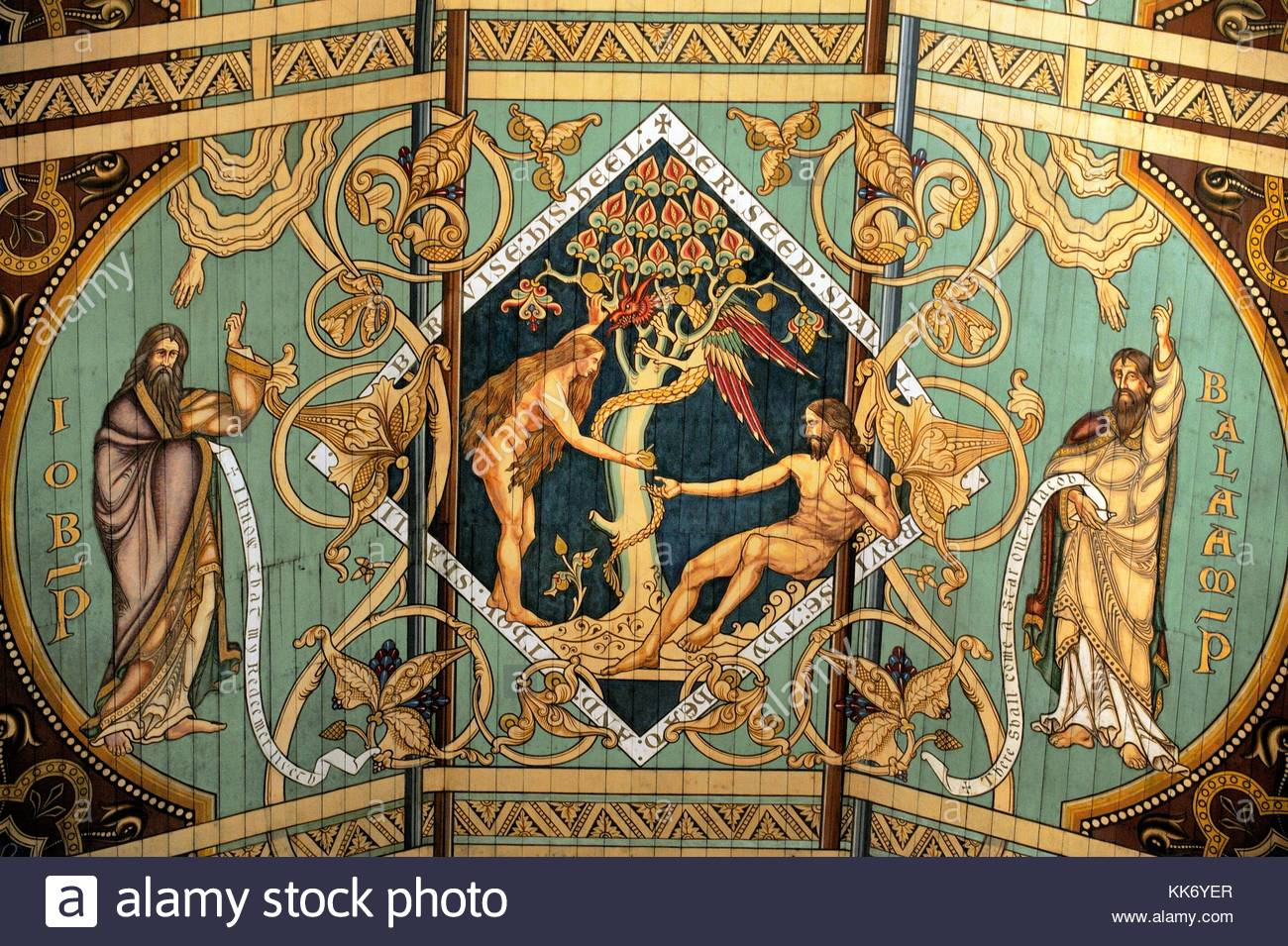 Ely Cathedral, Cambridgeshire, England. Temptation of Eve and Adam ...