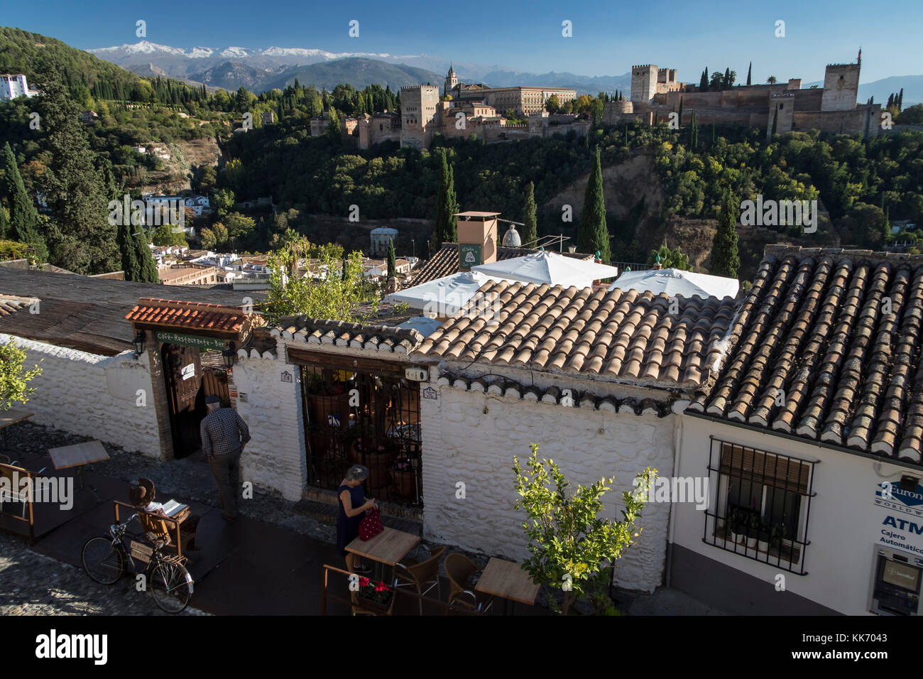 Granada, Spain. October, 2017. The Alhambra seen from the inside - Stock Image
