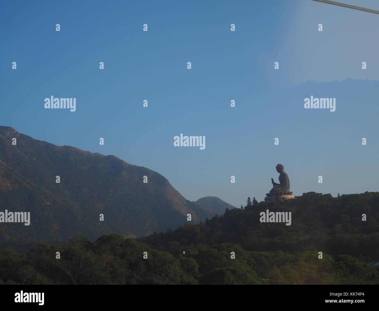 Great Buddha of Hong Kong Lantau Peak - Stock Image