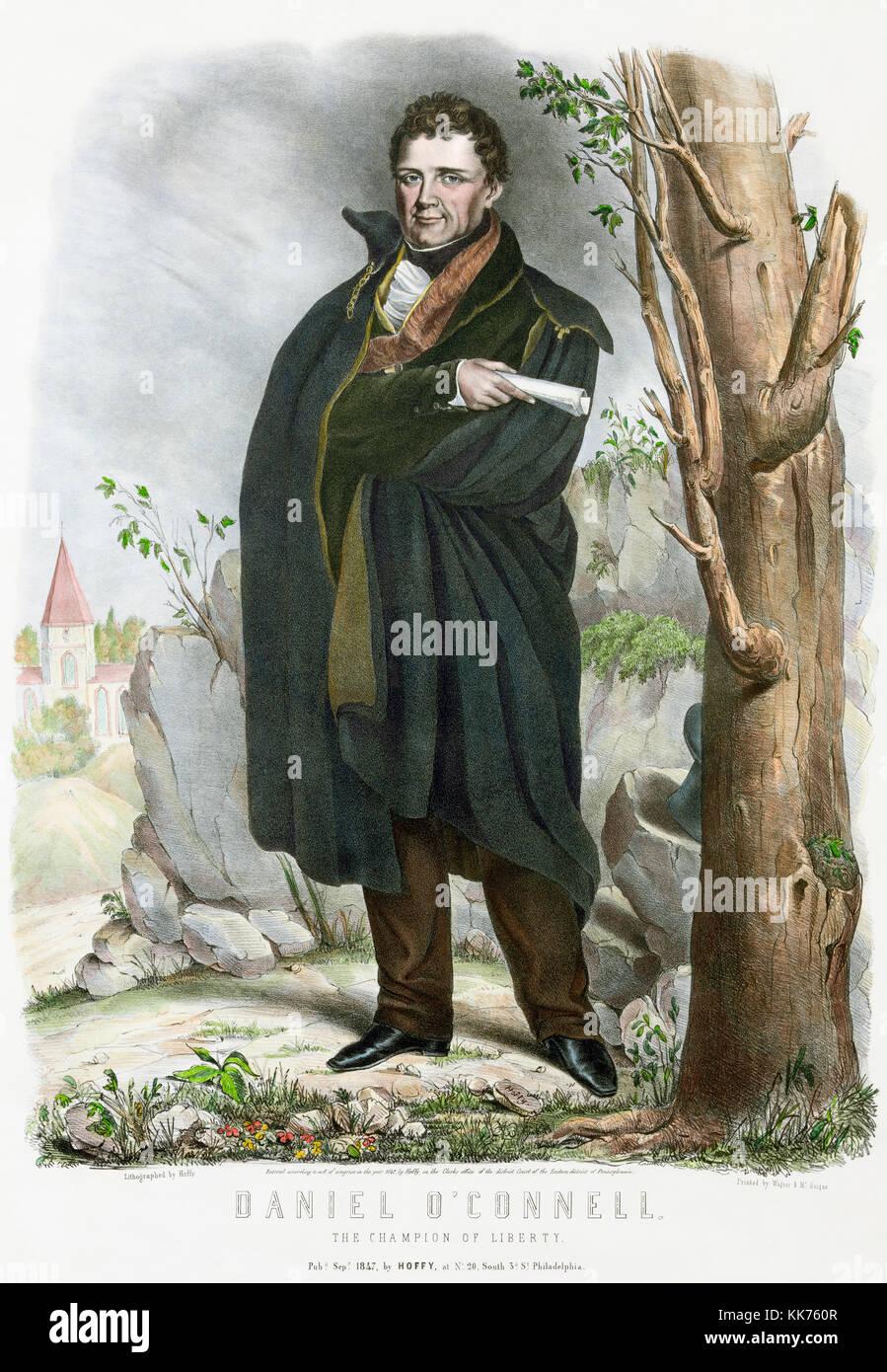 Daniel O'Connell, 1775 – 1847, aka The Liberator or The Emancipator. Irish political leader. - Stock Image